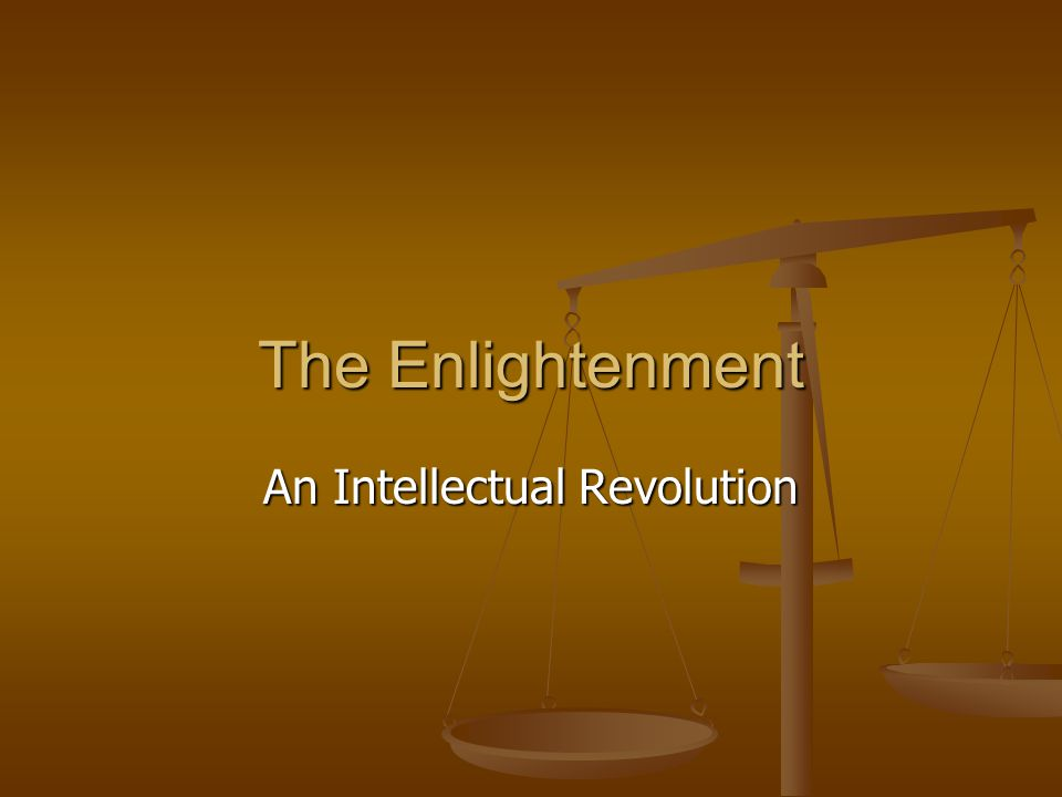An Intellectual Revolution