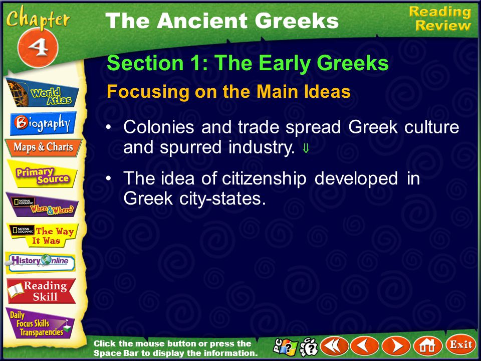 Section 1: The Early Greeks
