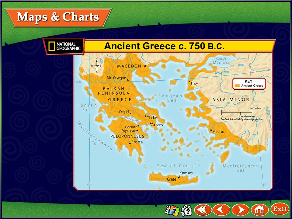 Ancient Greece c. 750 B.C.
