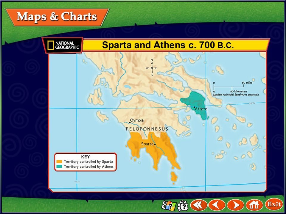 Sparta and Athens c. 700 B.C.