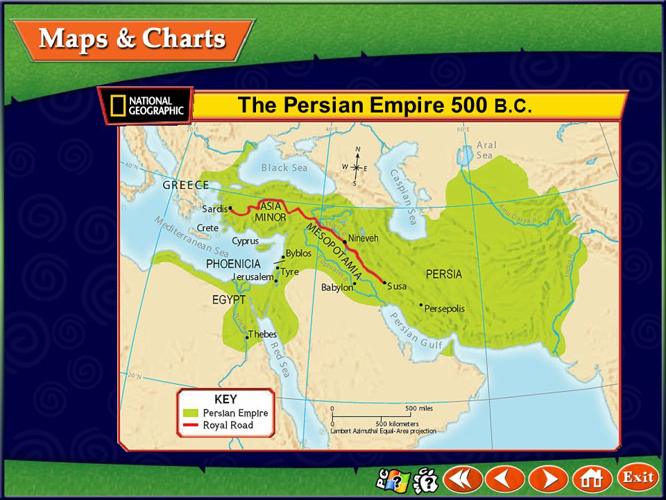 The Persian Empire 500 B.C.