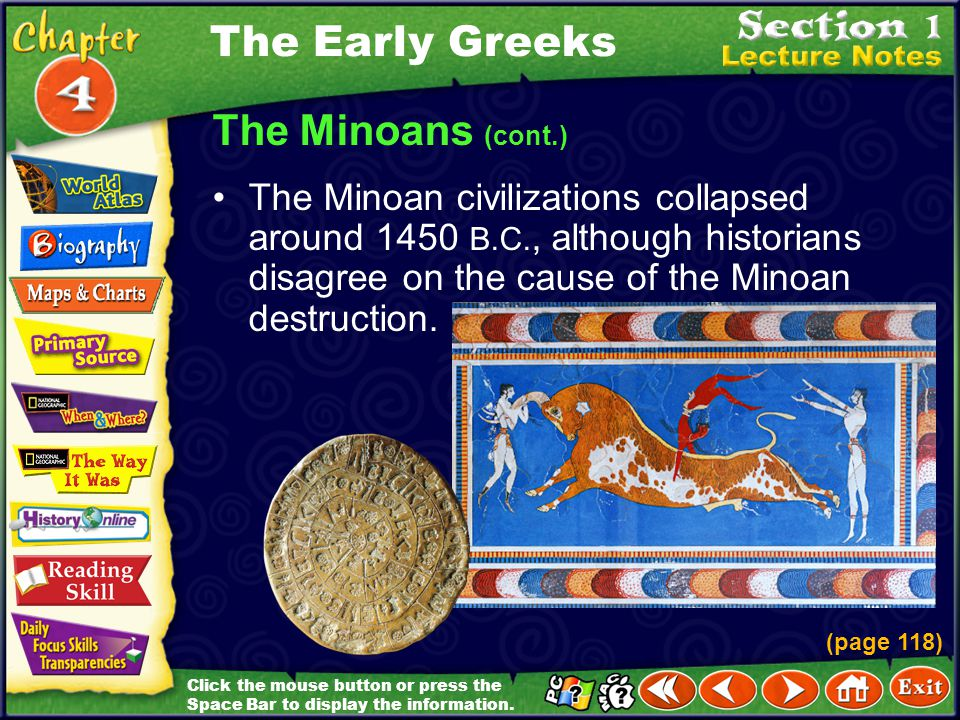The Early Greeks The Minoans (cont.)