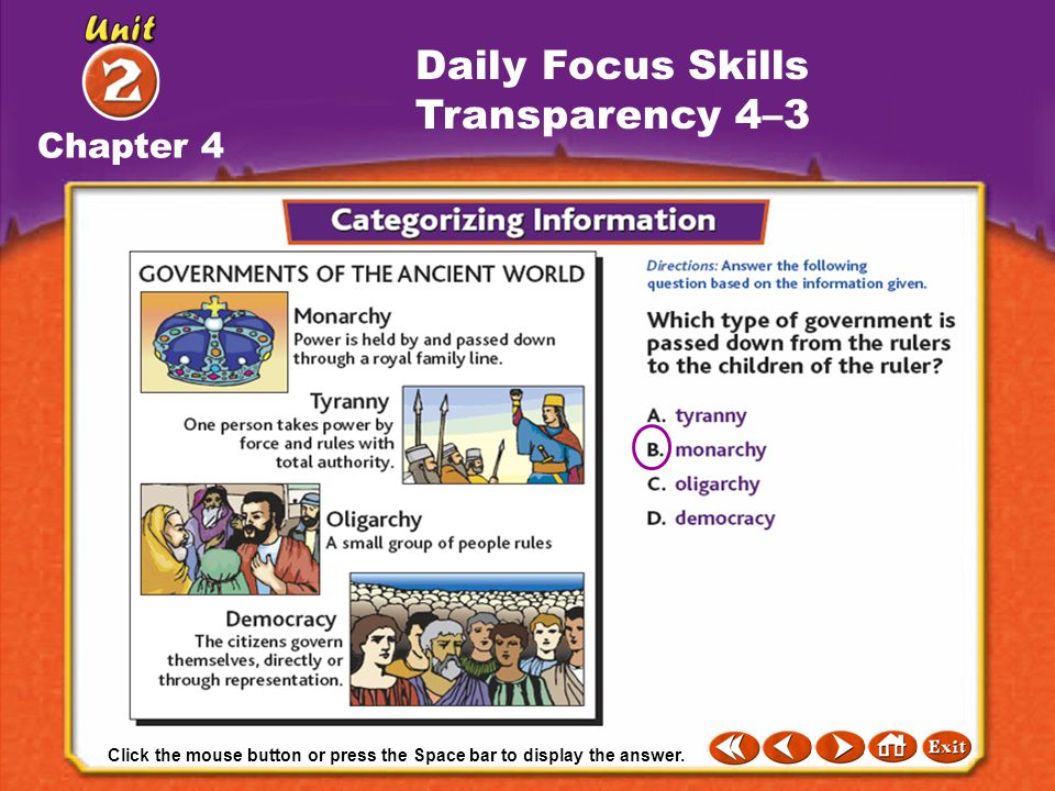 Daily Focus Skills Transparency 4–3