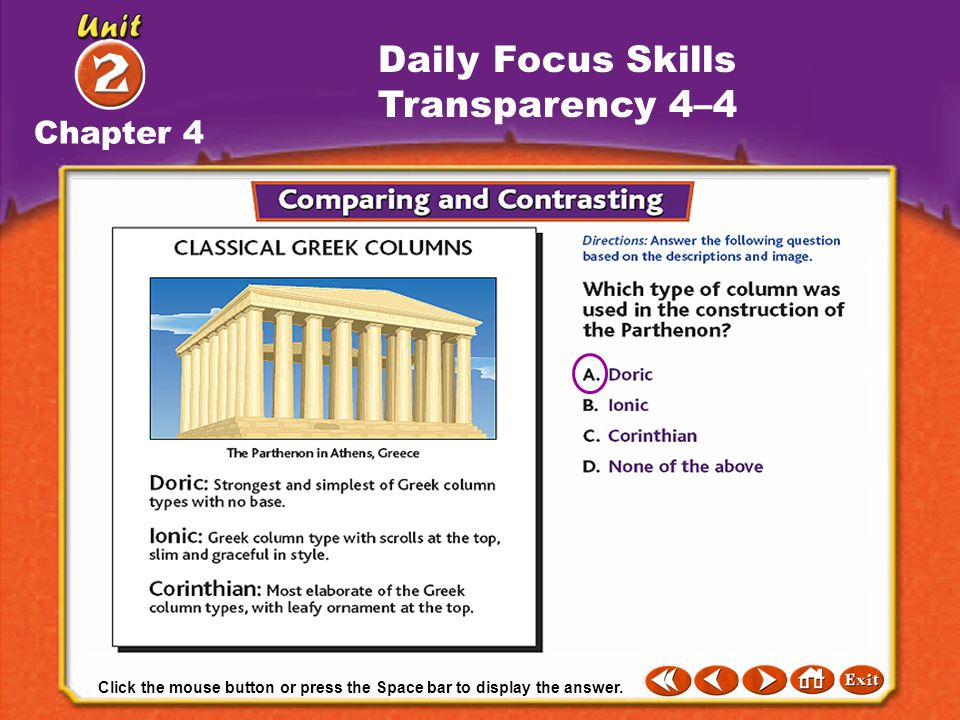Daily Focus Skills Transparency 4–4