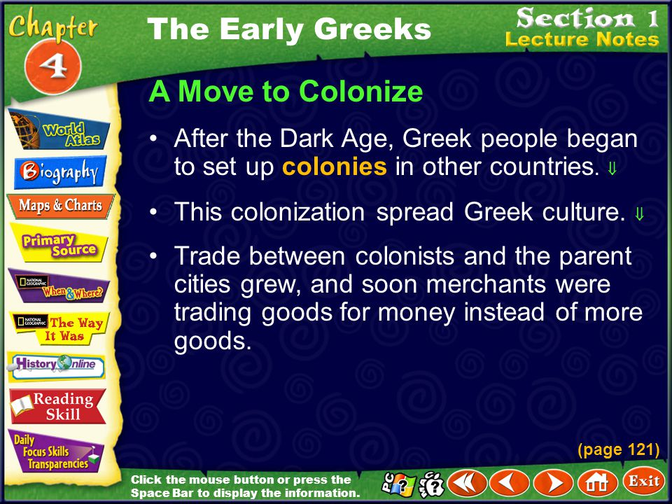 The Early Greeks A Move to Colonize