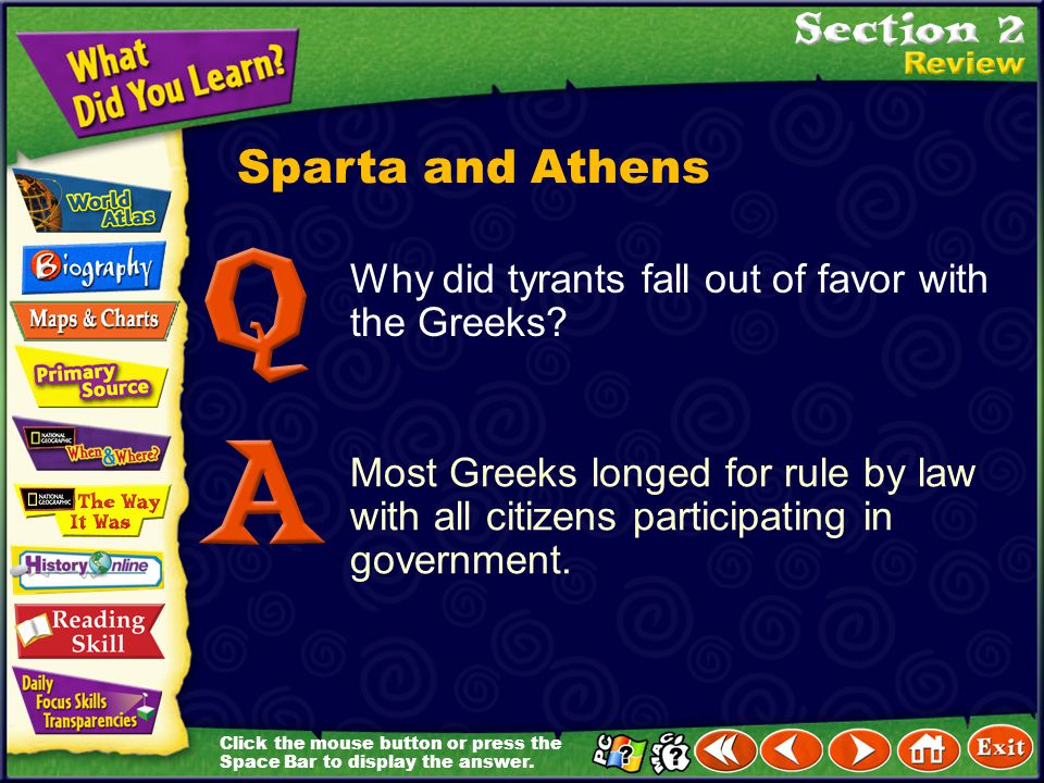 Sparta and Athens Why did tyrants fall out of favor with the Greeks