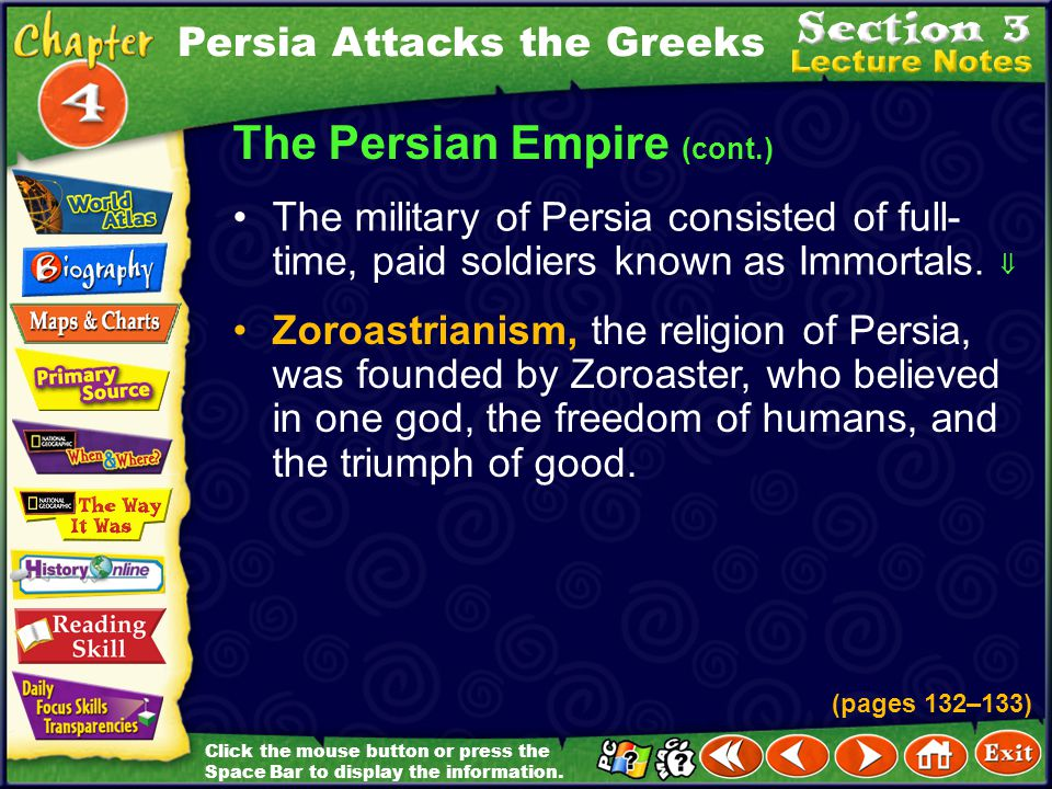 The Persian Empire (cont.)