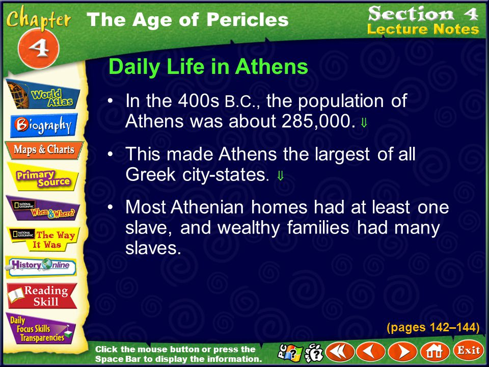 Daily Life in Athens The Age of Pericles