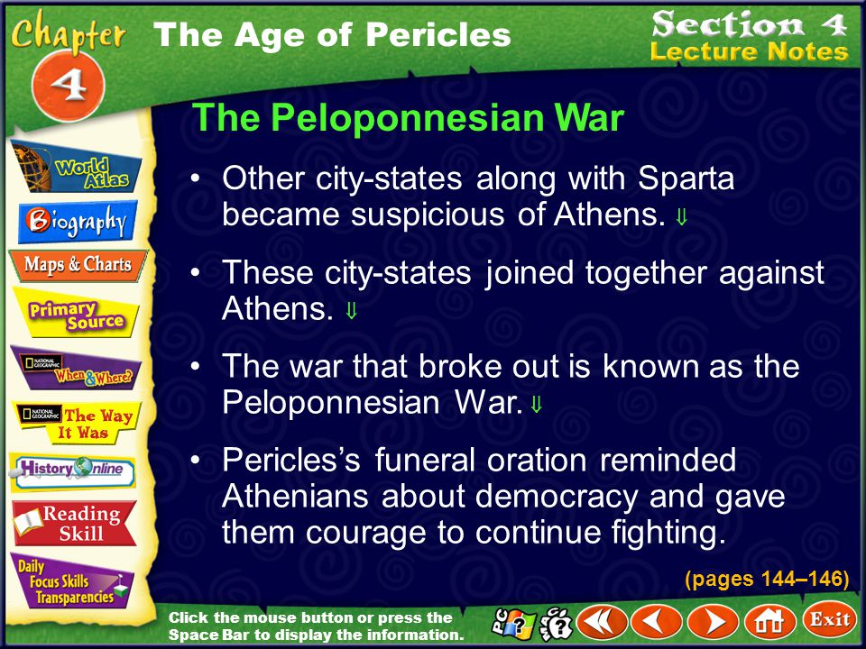 The Peloponnesian War The Age of Pericles