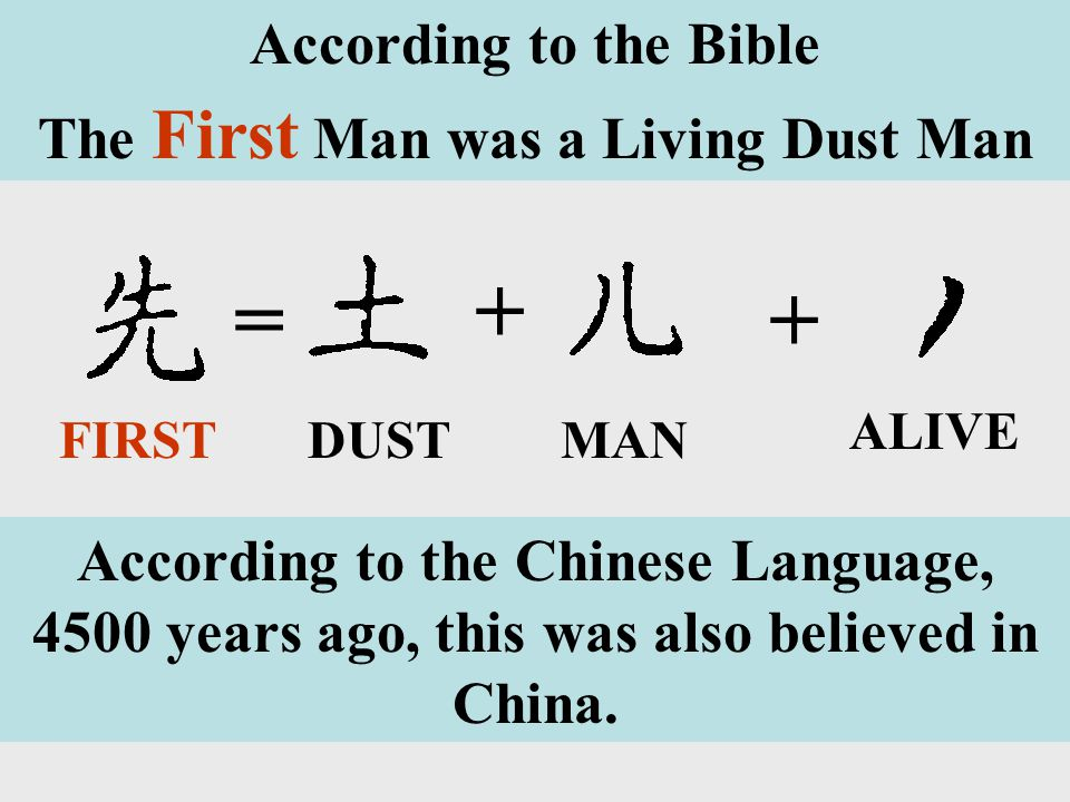 The First Man was a Living Dust Man