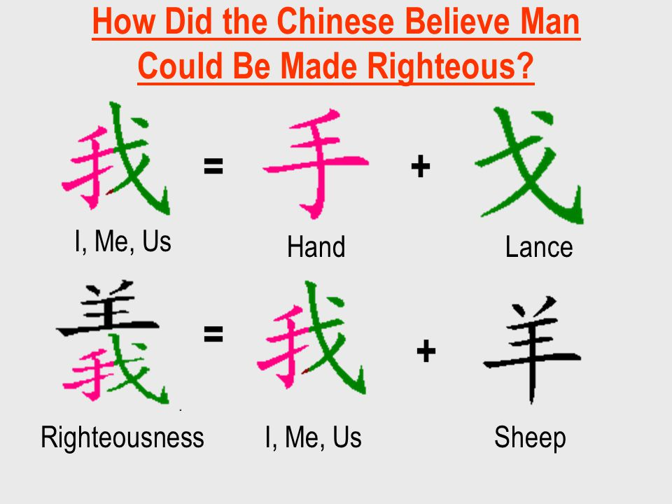How Did the Chinese Believe Man Could Be Made Righteous