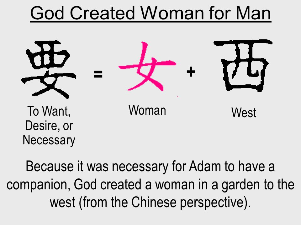 God Created Woman for Man