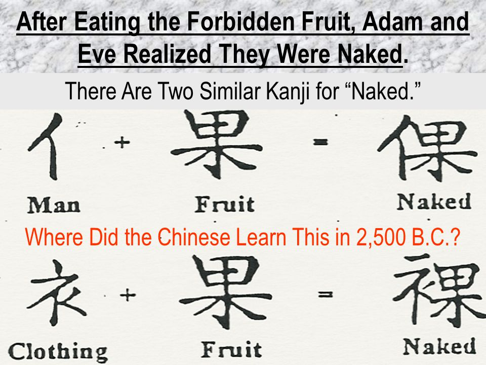 After Eating the Forbidden Fruit, Adam and Eve Realized They Were Naked.