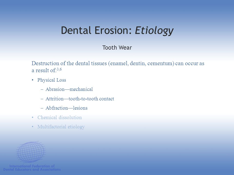 Dental Erosion: Etiology
