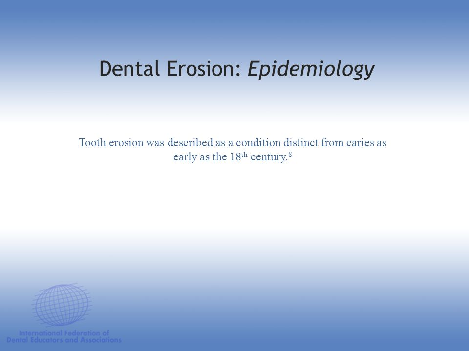 Dental Erosion: Epidemiology