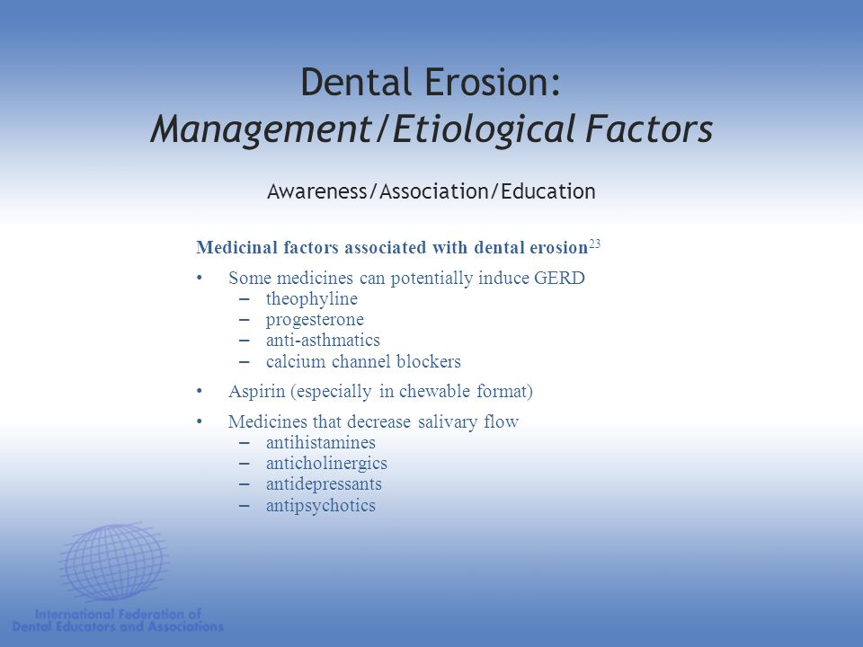 Dental Erosion: Management/Etiological Factors