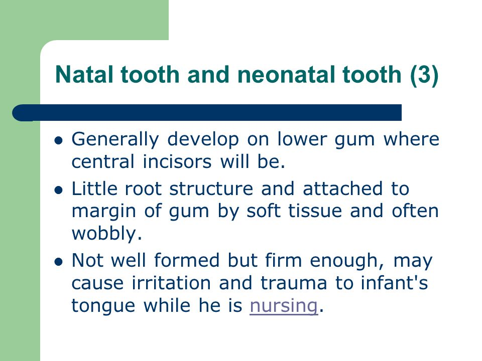 Natal tooth and neonatal tooth (3)