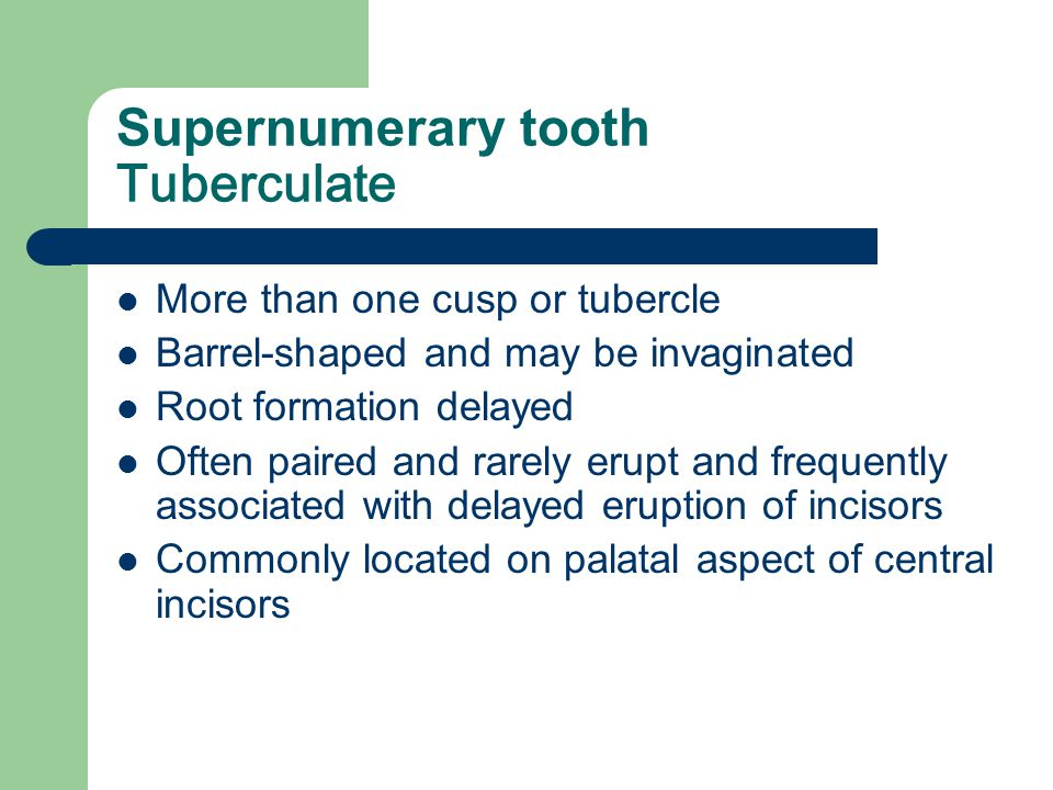 Supernumerary tooth Tuberculate