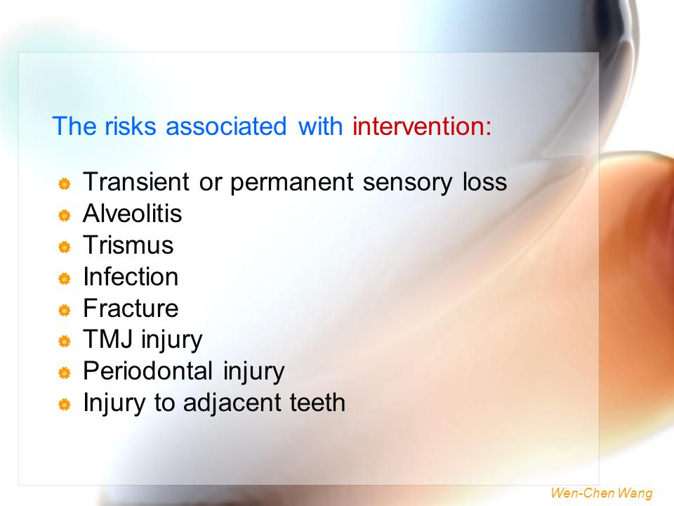 The risks associated with intervention: