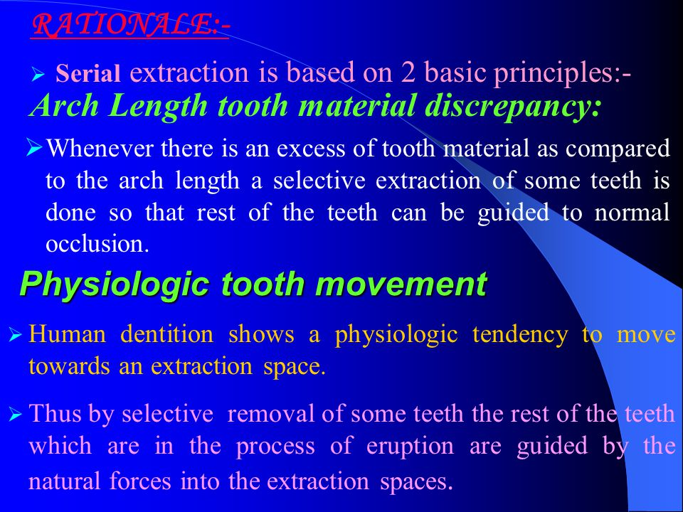 Physiologic tooth movement