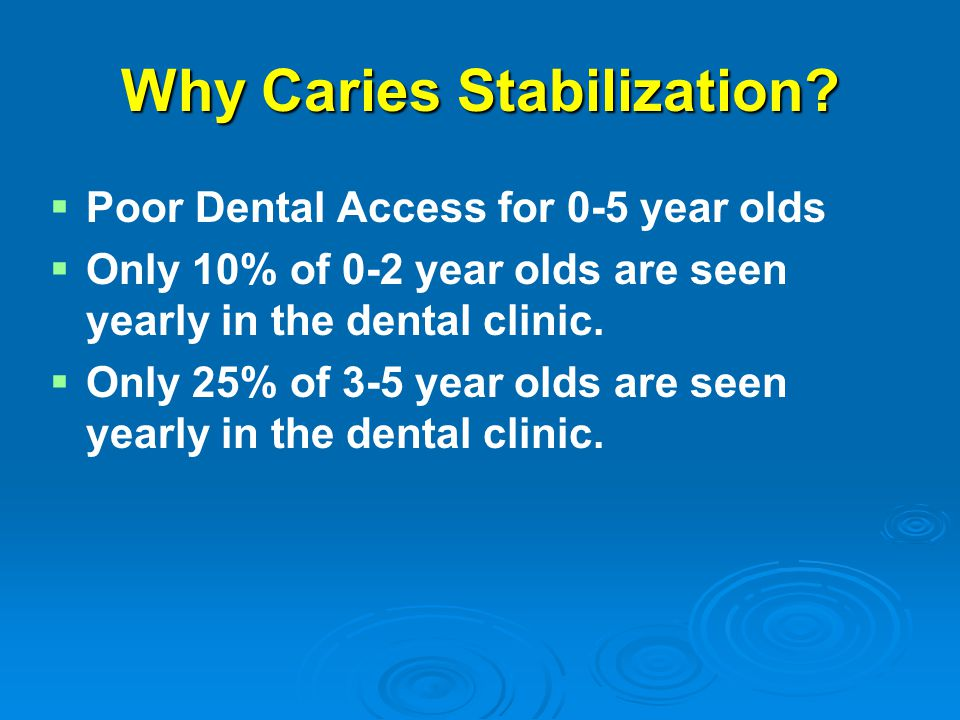 Why Caries Stabilization