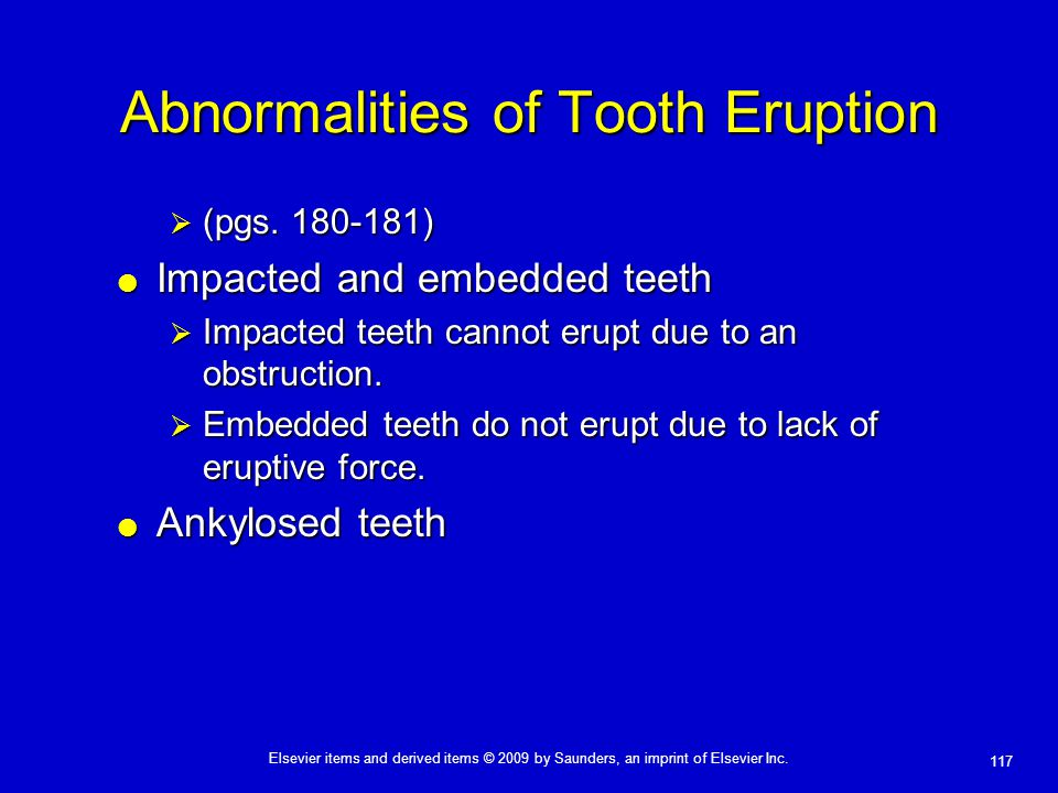 Abnormalities of Tooth Eruption