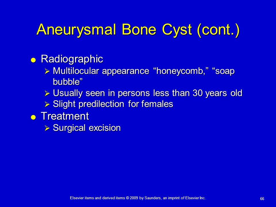 Aneurysmal Bone Cyst (cont.)