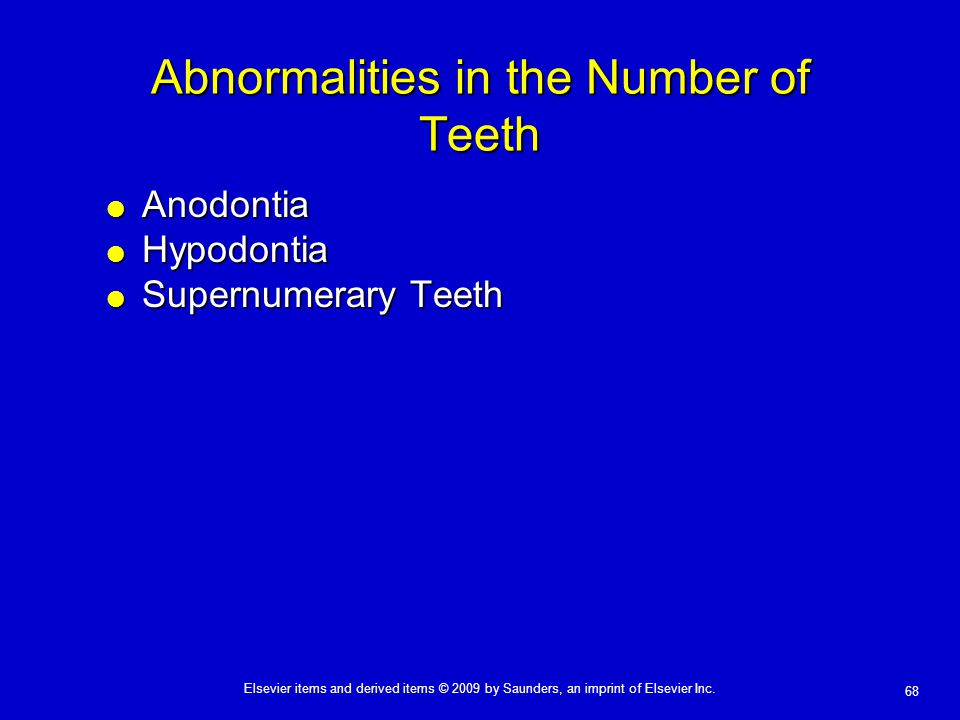 Abnormalities in the Number of Teeth