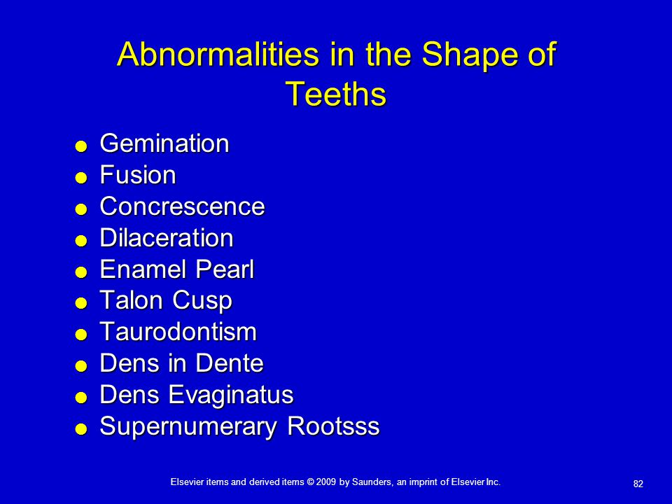 Abnormalities in the Shape of Teeths