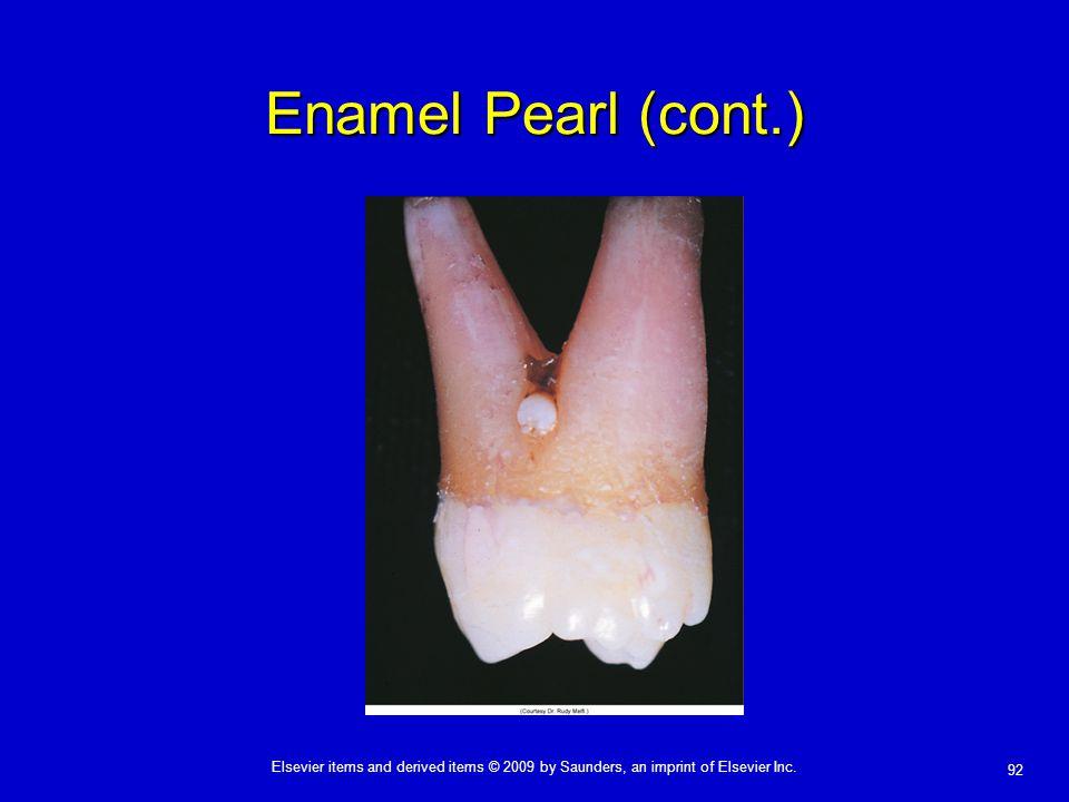Enamel Pearl (cont.)