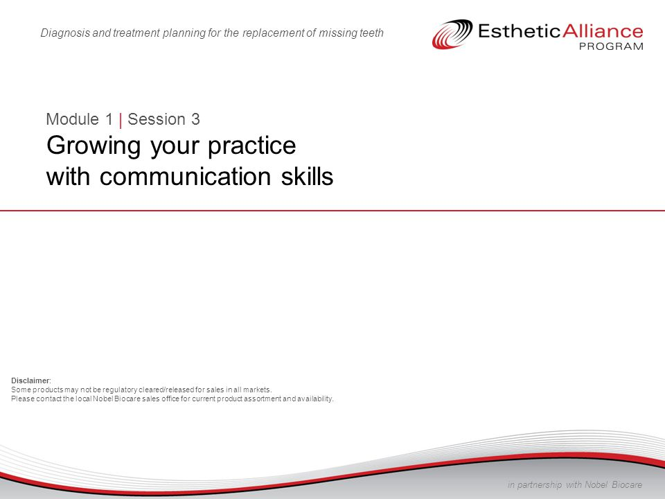 Module 1 | Session 3 Growing your practice with communication skills