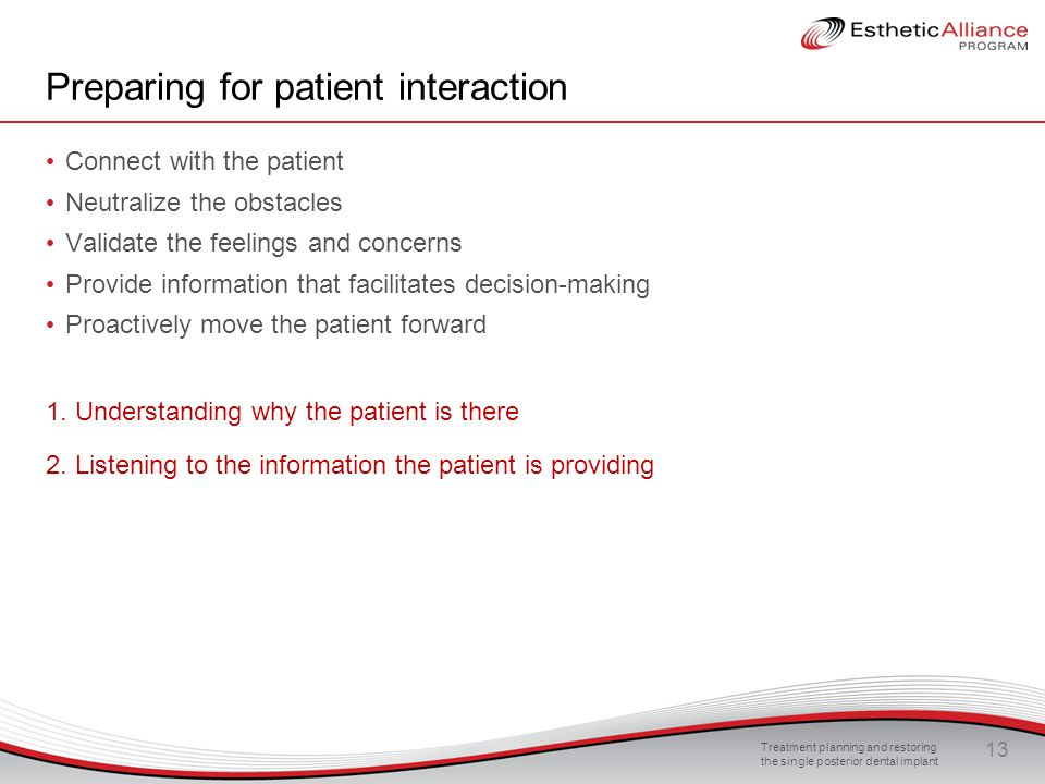 Preparing for patient interaction
