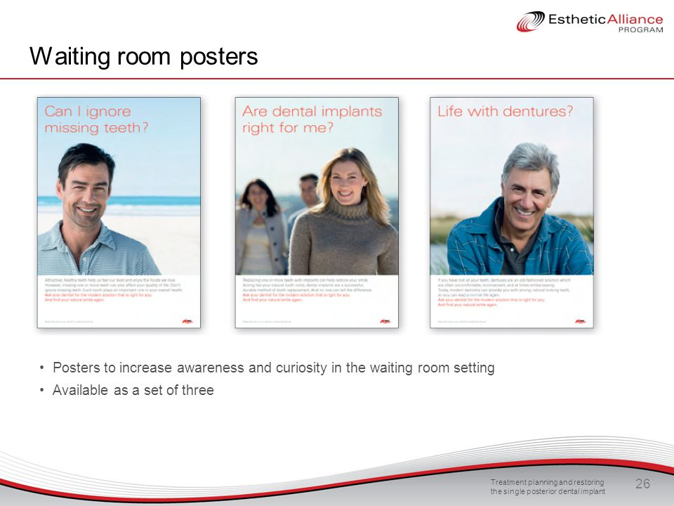 Waiting room posters Posters to increase awareness and curiosity in the waiting room setting. Available as a set of three.