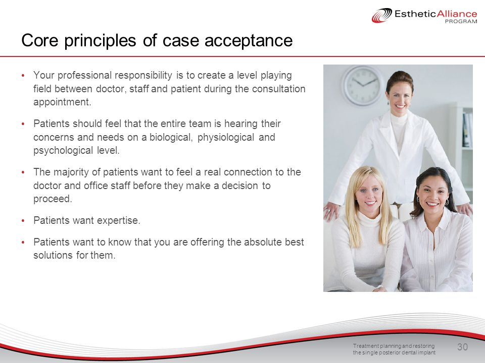 Core principles of case acceptance