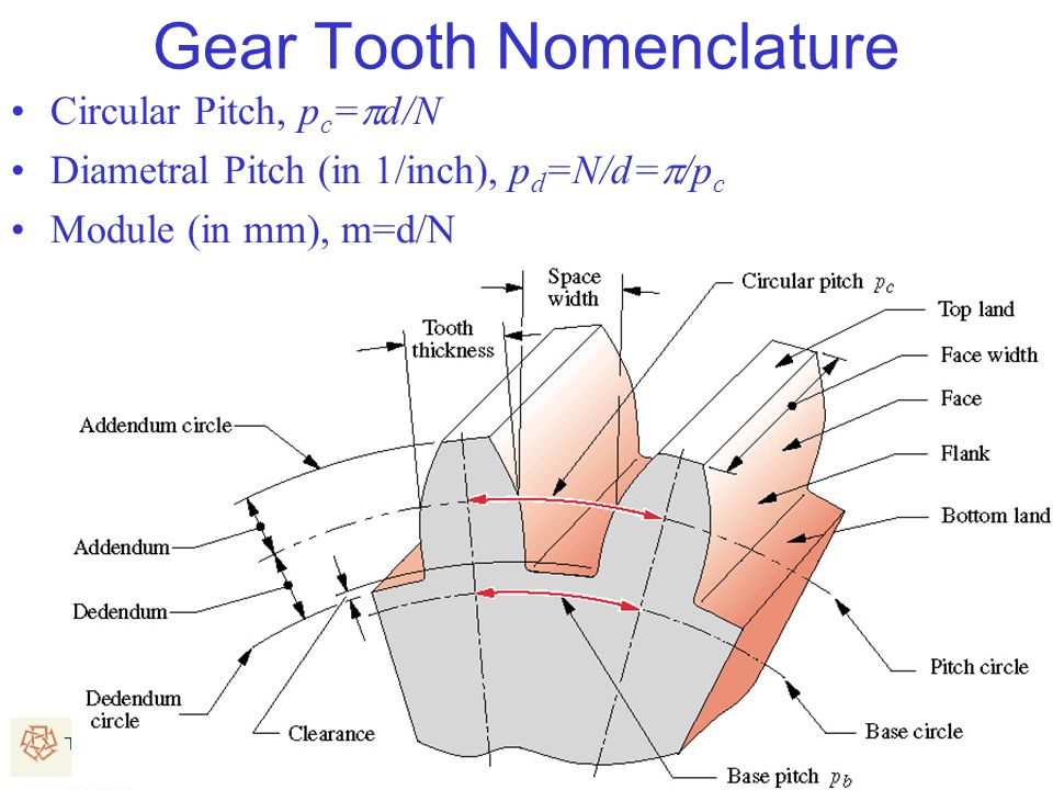 Gear Tooth Nomenclature