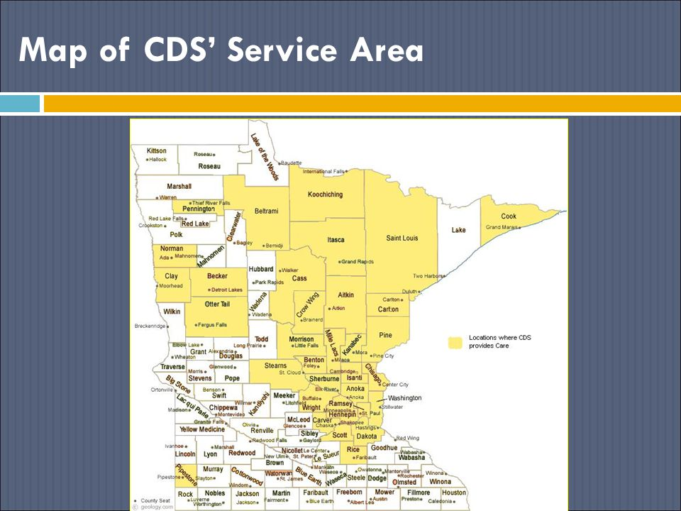 Map of CDS' Service Area