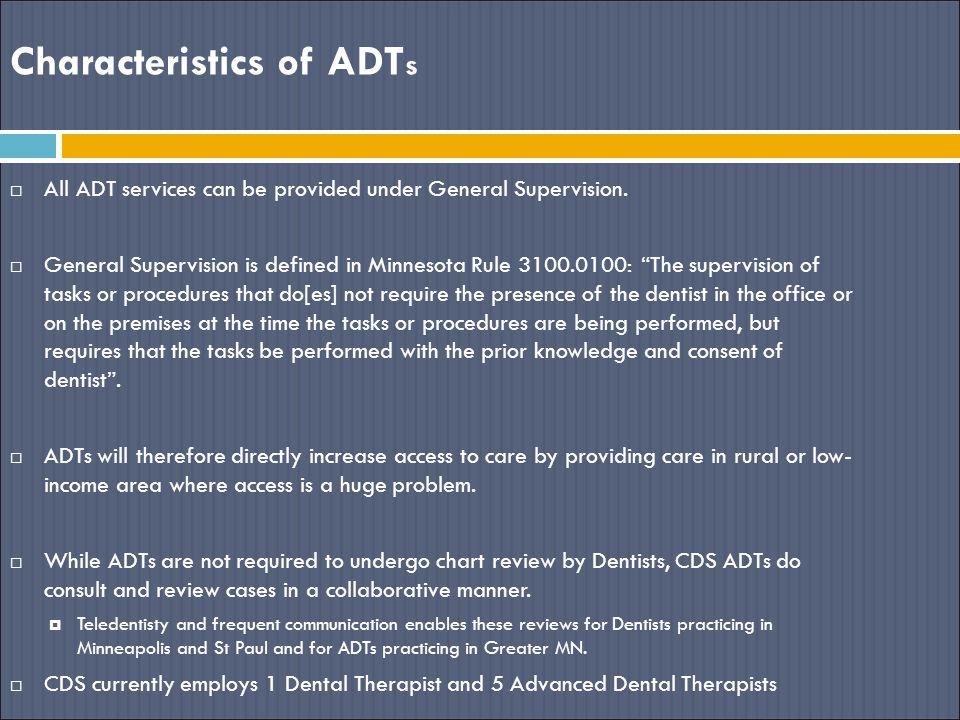 Characteristics of ADTs