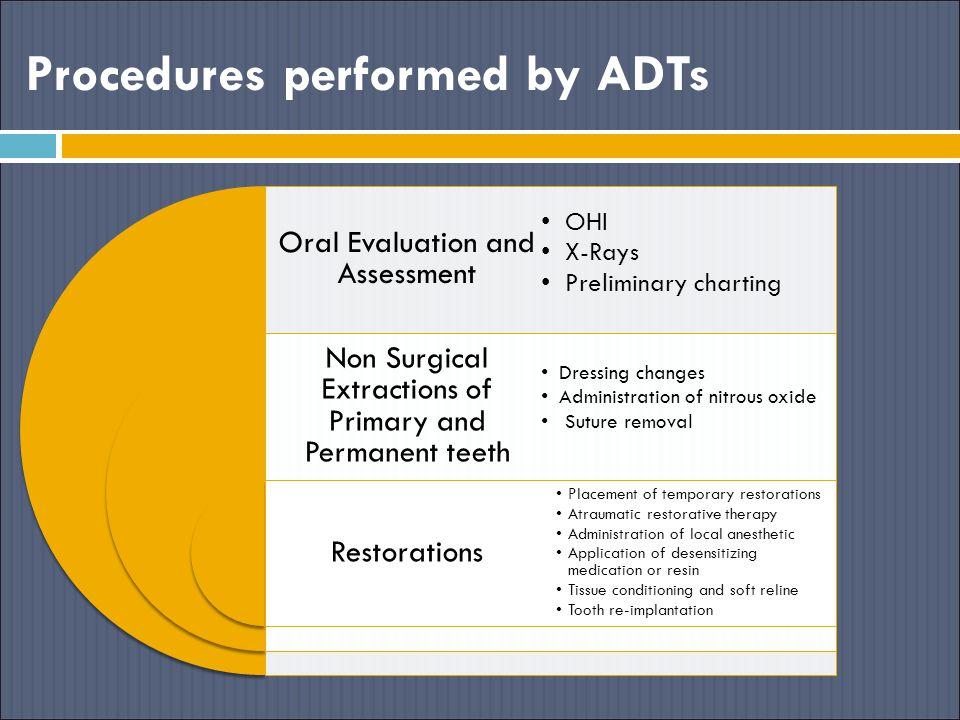 Procedures performed by ADTs