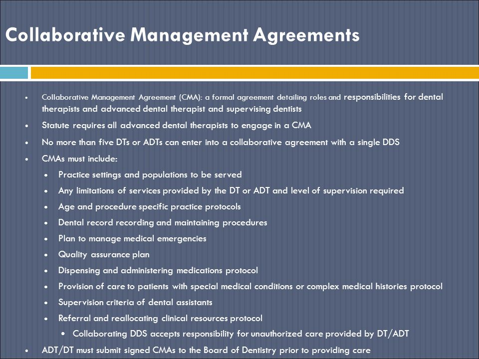 Collaborative Management Agreements