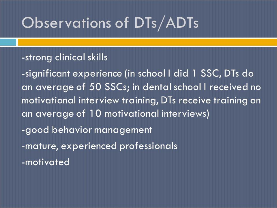 Observations of DTs/ADTs