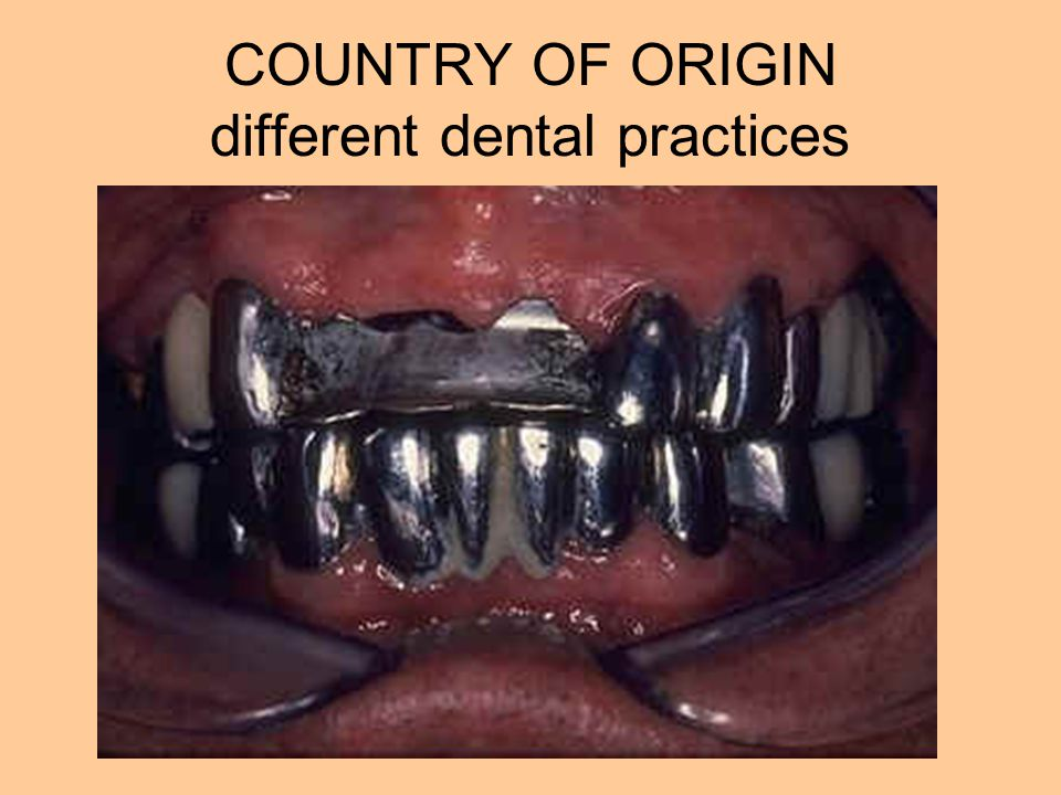 COUNTRY OF ORIGIN different dental practices