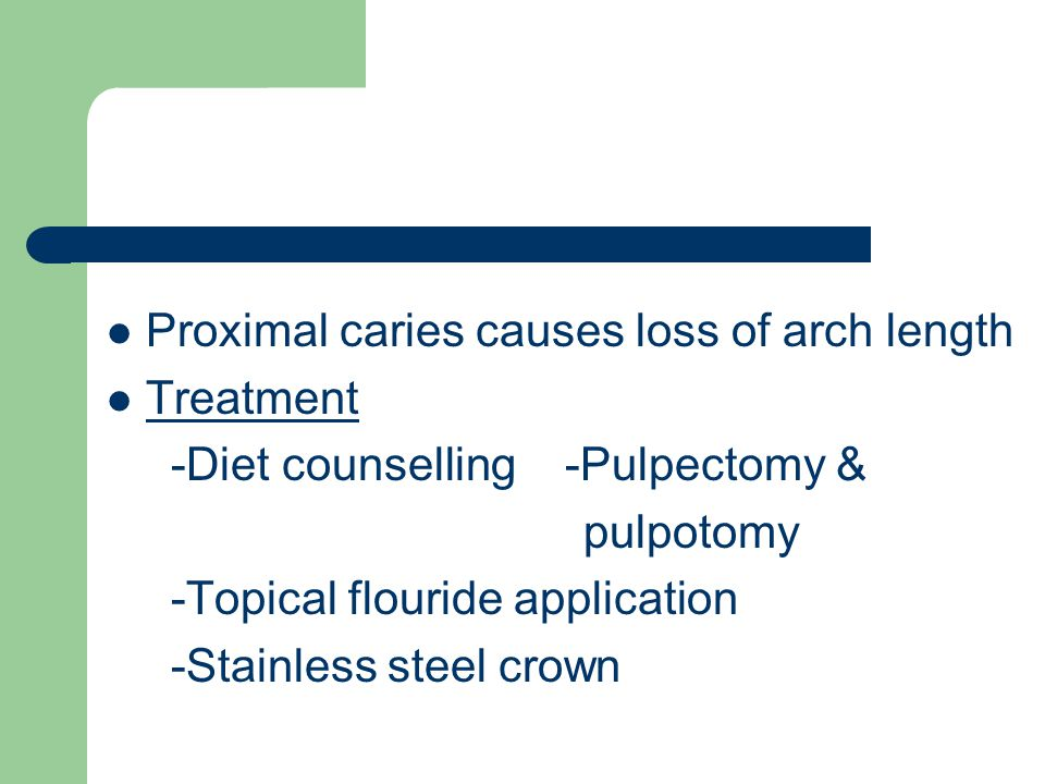 Proximal caries causes loss of arch length