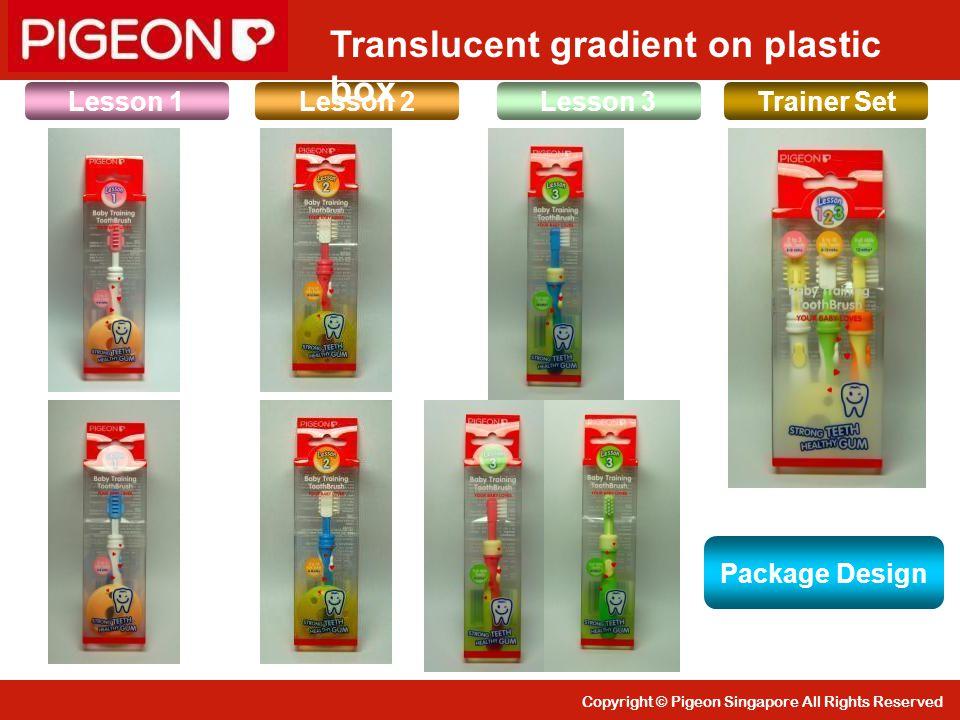 Translucent gradient on plastic box
