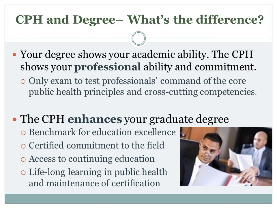 CPH and Degree– What's the difference
