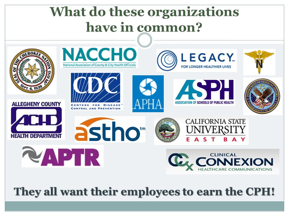 What do these organizations have in common