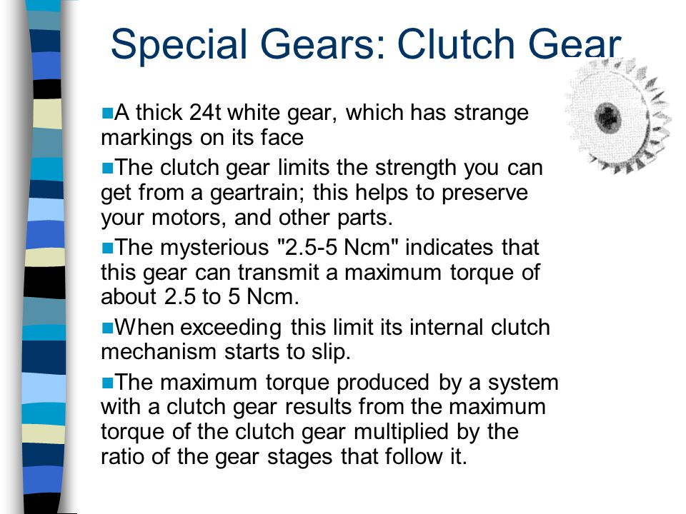 Special Gears: Clutch Gear