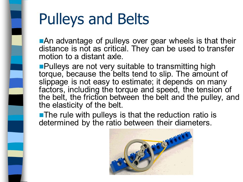 Pulleys and Belts