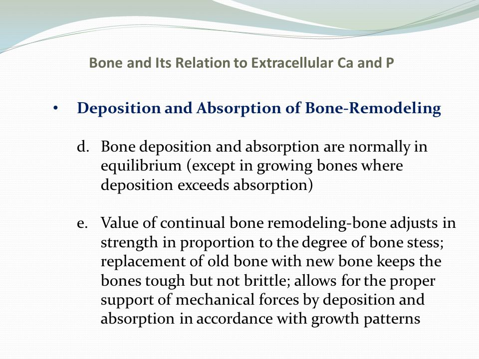 Bone and Its Relation to Extracellular Ca and P