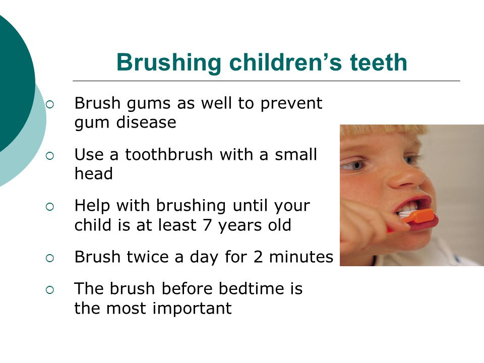 Brushing children's teeth