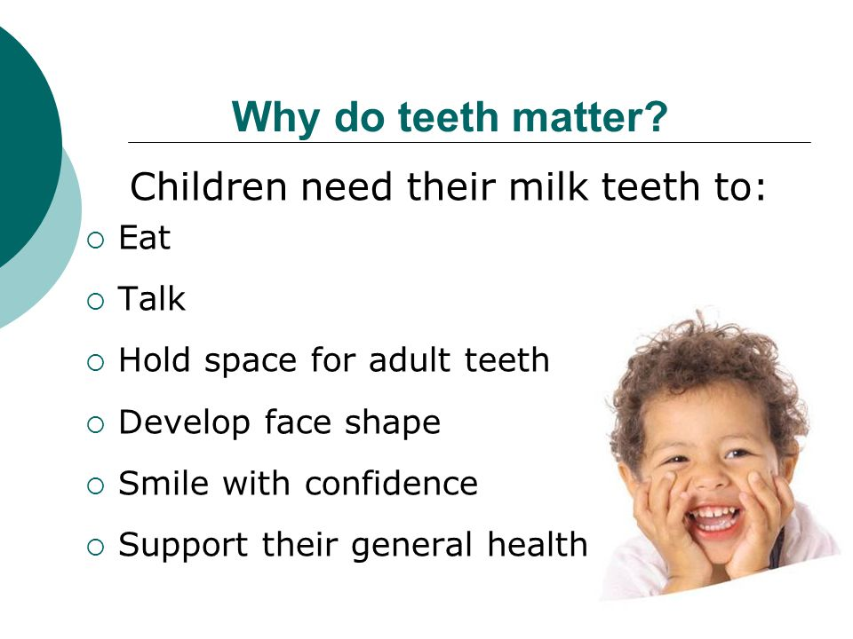 Children need their milk teeth to: